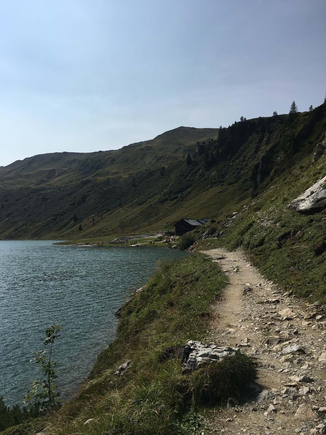 Bergsee in der Salzburger Sportwelt