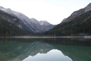 Wasser dient als Spiegel
