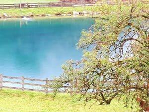 Wasserspeicherteich für den Winter in Flachau
