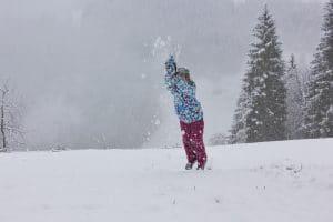 Spaß im Schneee