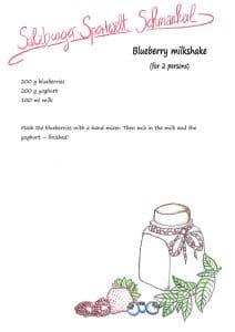 blueberry milk shake selfmade