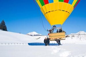 Filzmoos als Startpunkt der Ballonfahrer