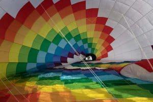Der Ballon wird vorbereitet
