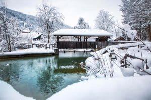 Winterspaziergang entlang der Enns