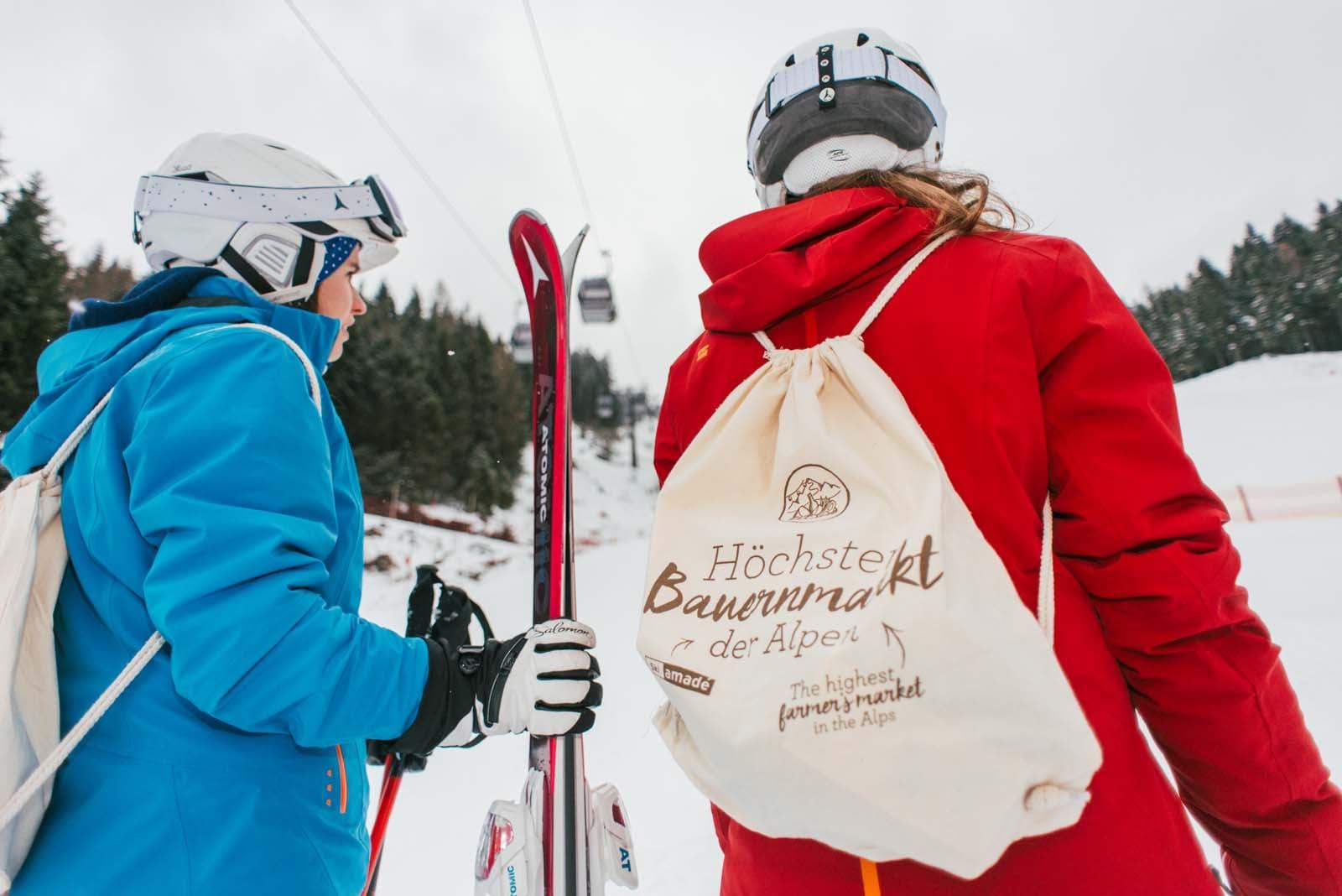regionales Essen auf den Skihütten
