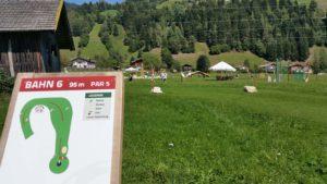 Die Soccer Golf Bahn in Wagrain-Kleinarl