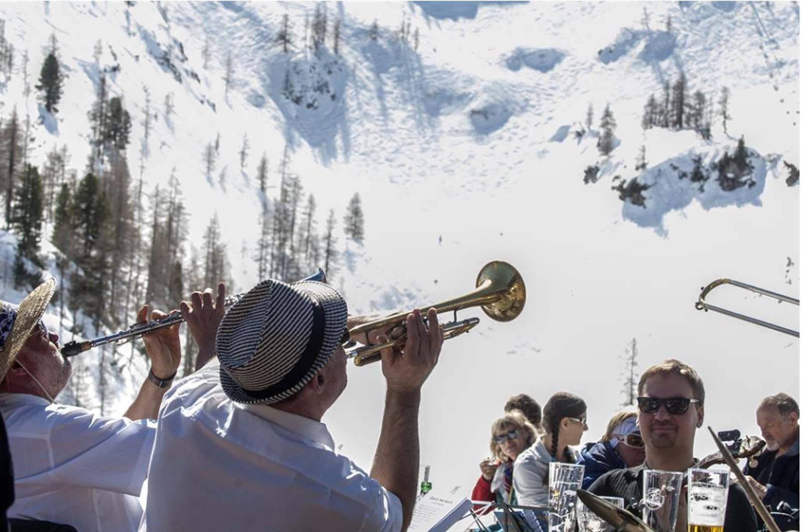 The Dixiland Band is now at the Salzburger Sportwelt