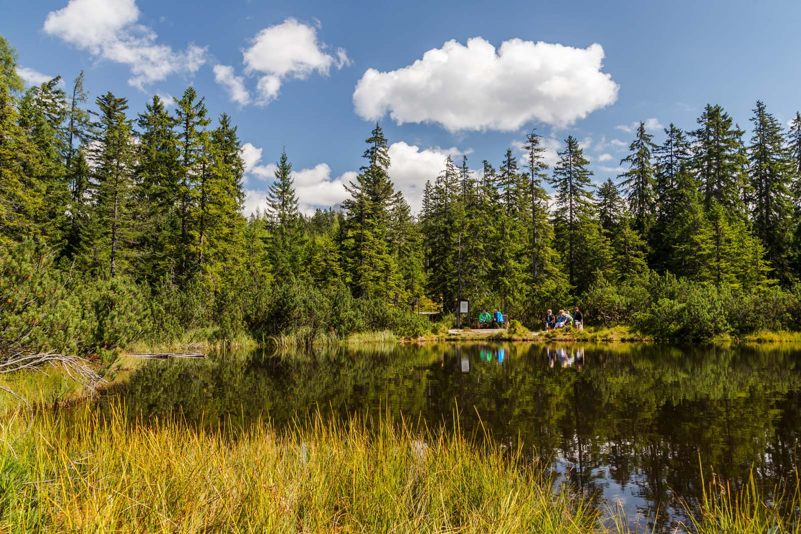 beautiful lakes at the mountain Gerzkopf in Eben