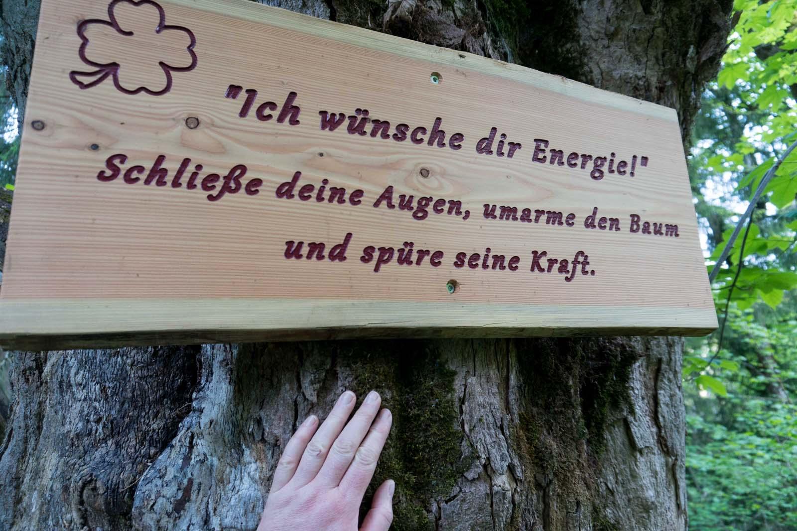Weg der guten Wünschen in Flachau