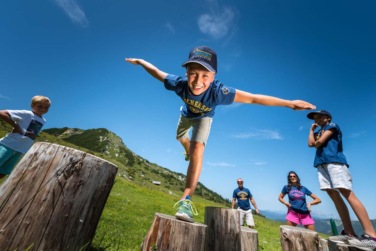 Gamskogelbahn lift into the alpine summer