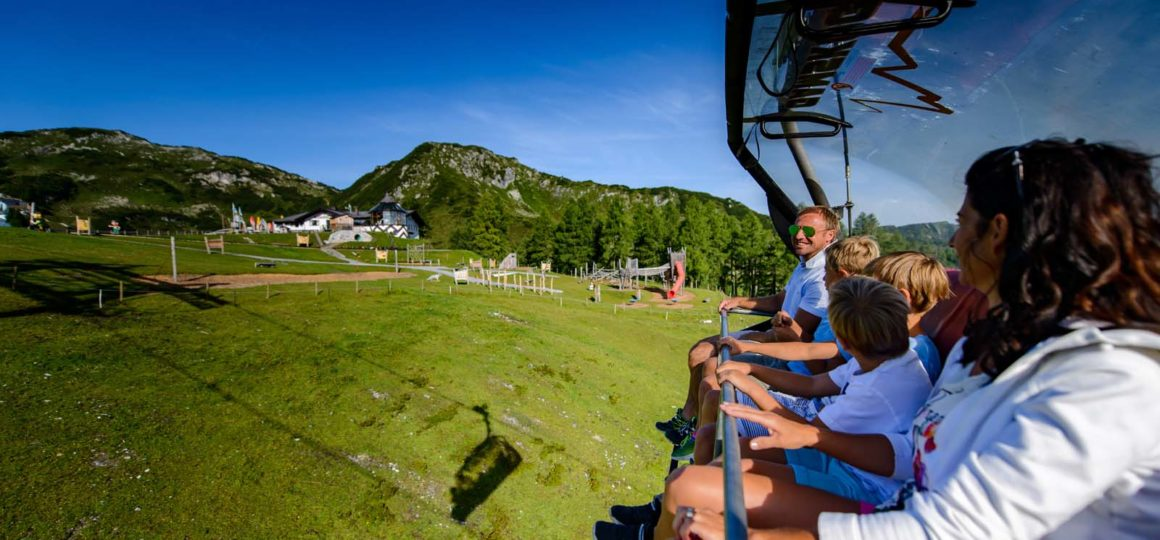 cable car in Summer in Salzburg