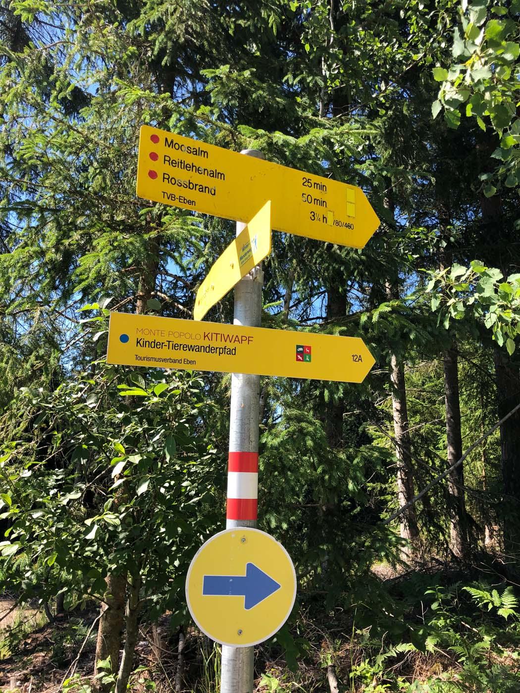 Kinderthemenweg in Eben