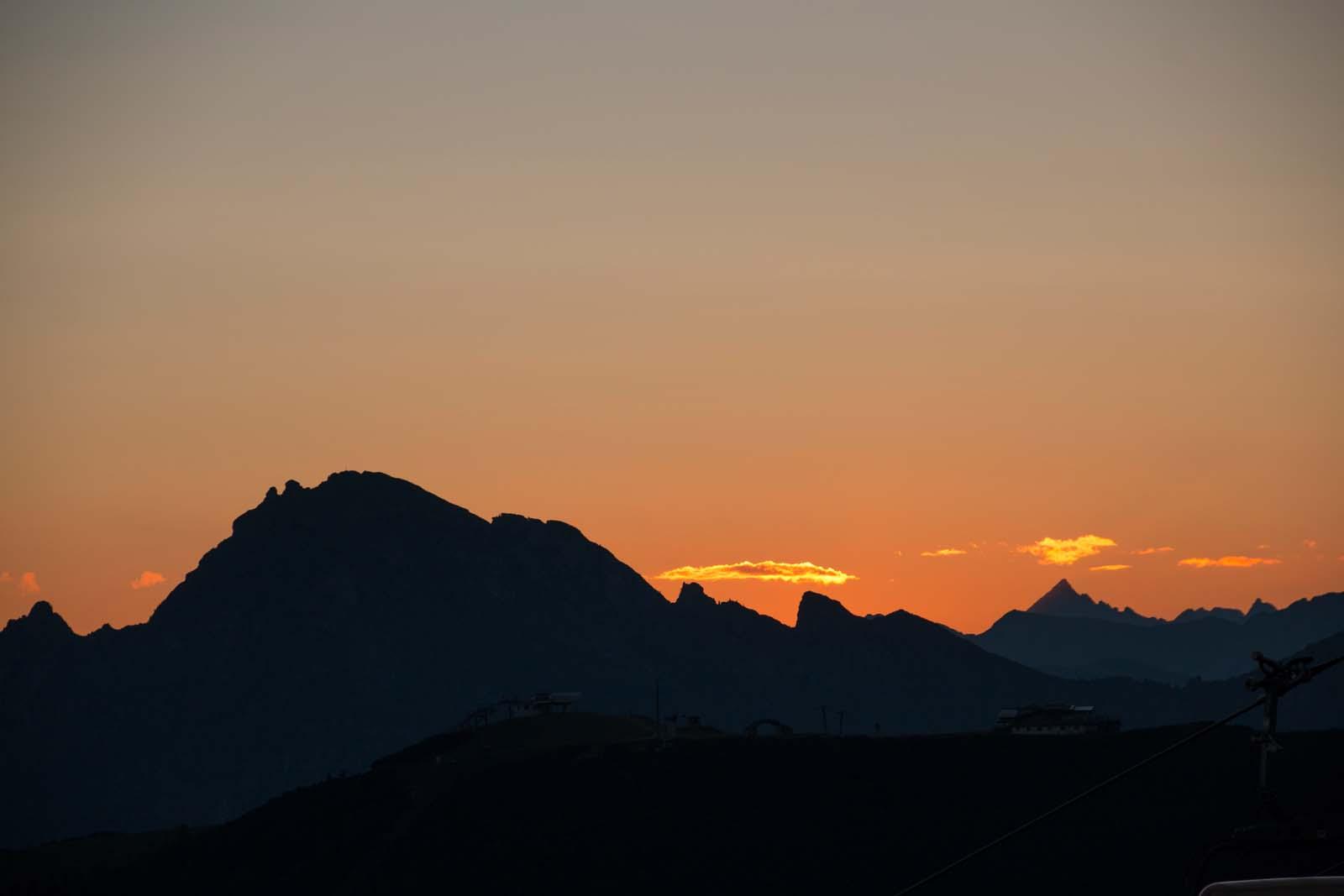 Sonnenaufgang in Zauchensee
