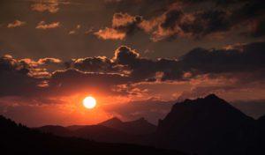 Sonnenaufgang in Zauchensee/Salzburg