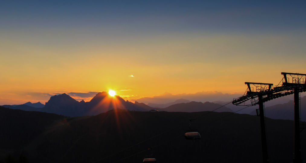 ride on the chairlift ot meet the sunrise