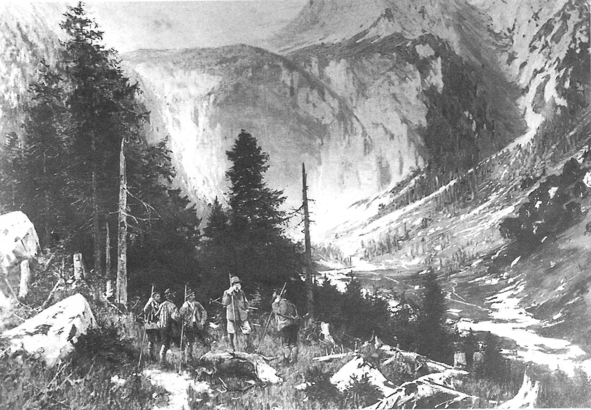 Holzarbeit vor Hundert Jahren