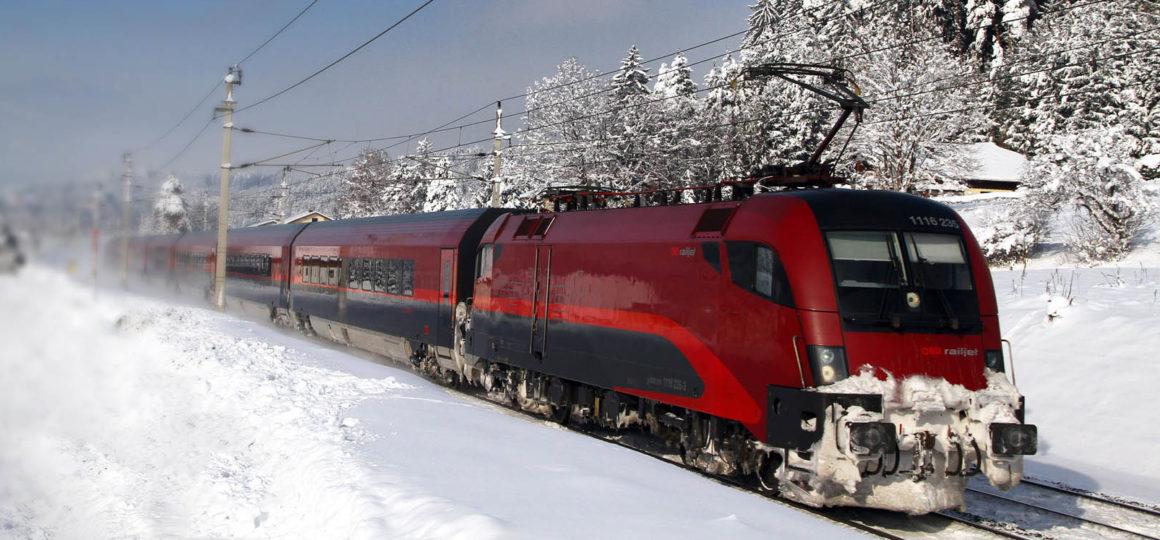 Zuganreise zum Skigebiet