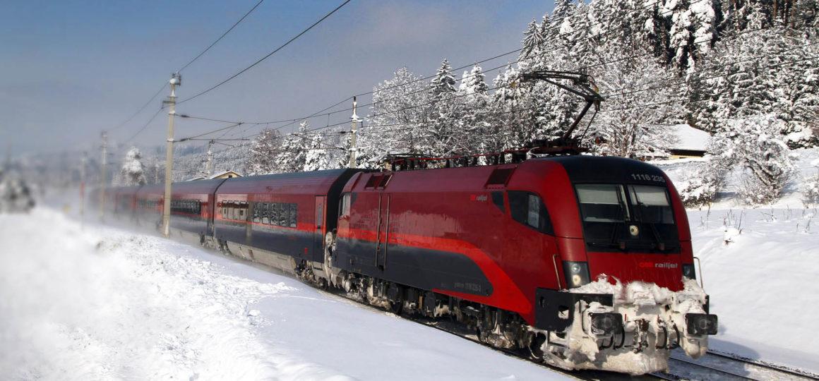 Train journey to the ski area