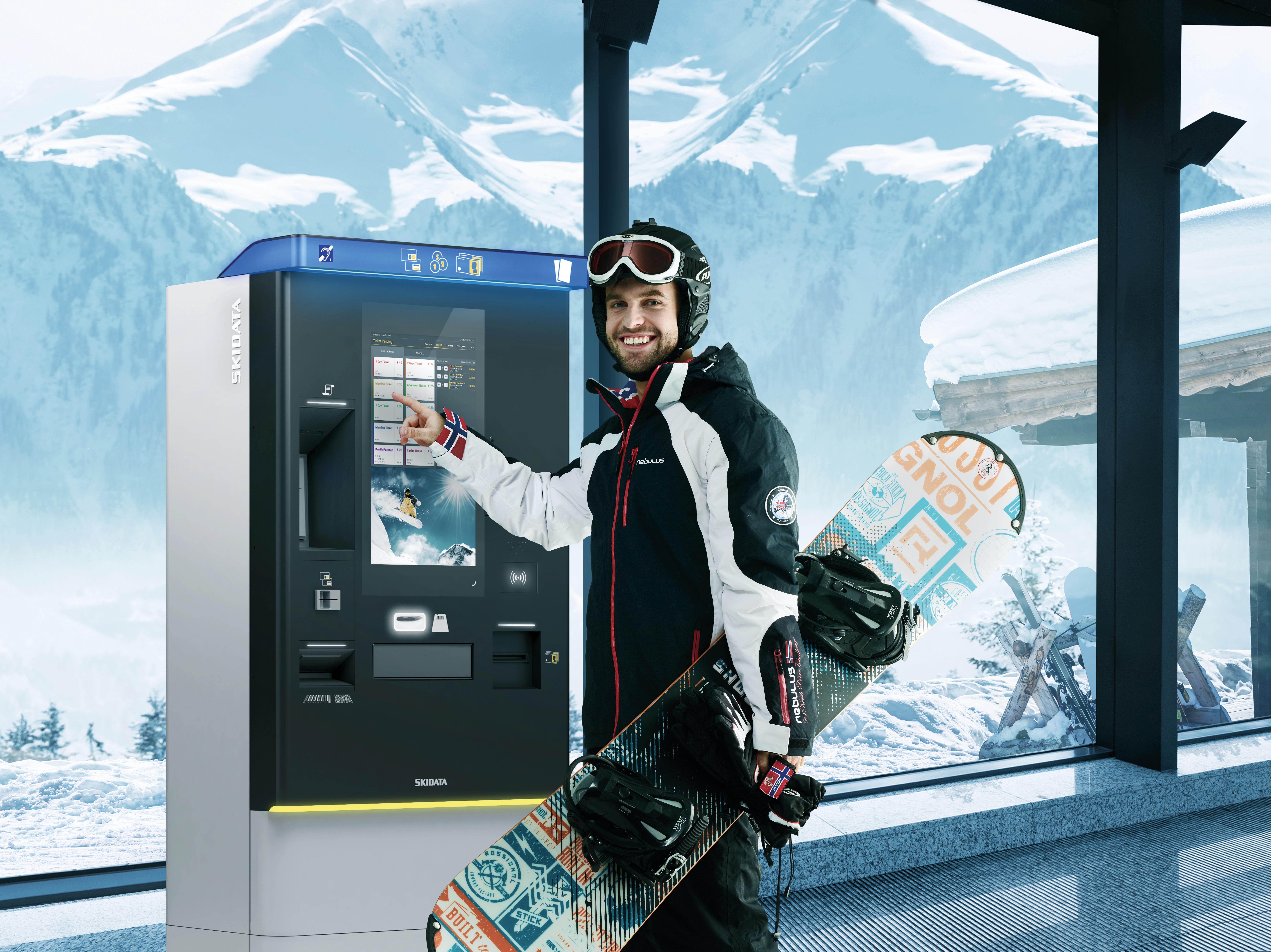 Skiticket per Automaten kaufen, Skiticket online kaufen