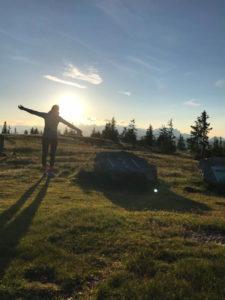 Wandern in die Berge von Österreich