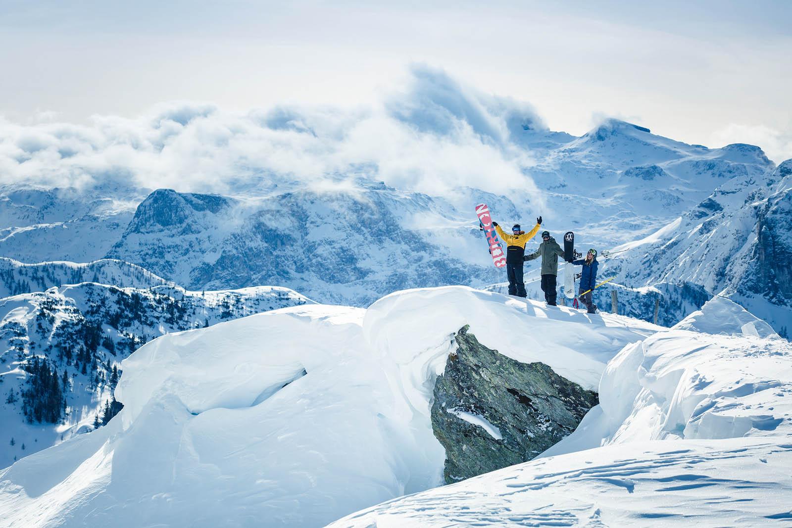 Freestyle on top at Absolutpark Austria, Snow Park,