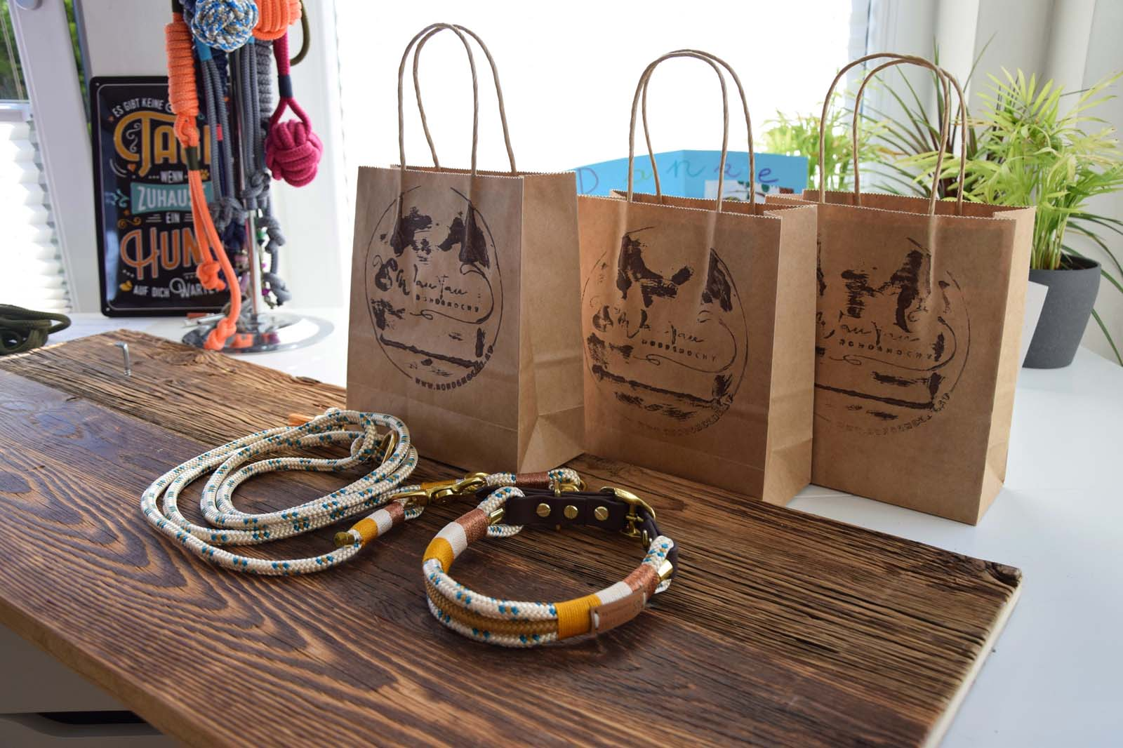 Homemade bracelets, necklaces, bags from Eben