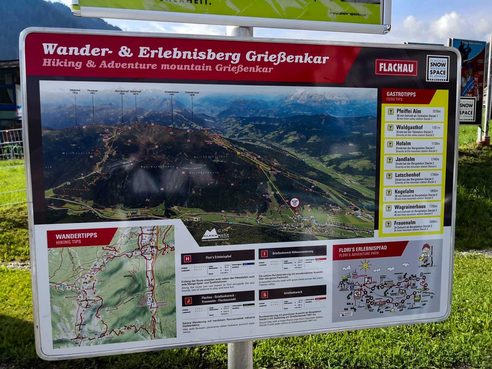 Grießenkar, Saukarfunktel, Grießenkaralmen in Salzburg
