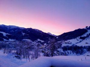 Morgenstimmung im Winter im Salzburgerland
