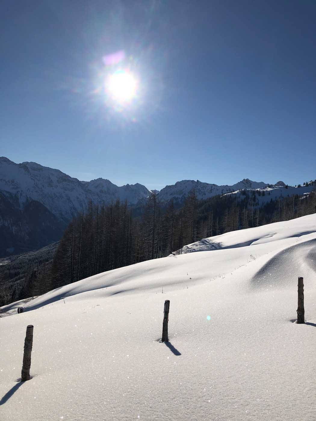 hiking in Winter in Wagrain Kleinarl