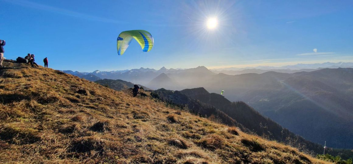 Paragliding in Salzburg, launch site for paragliding