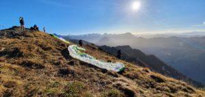 Paragleiten in Salzburg, Startplatz zum Gleitschirmfliegen