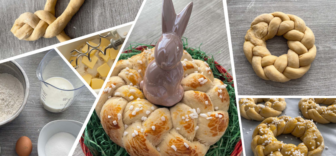 sweet yeast dough, recipe for Easter, make your own yeast dough, make your own Easter striezel