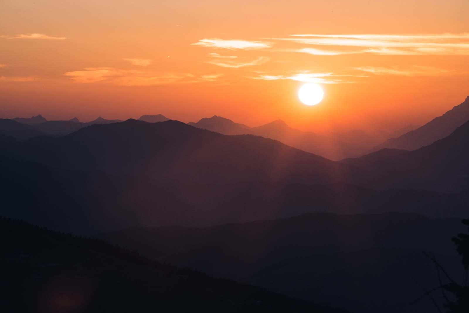 Abendstimmung und Sonnenuntergang