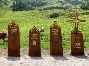 Neue Gipfelskulputuren in Zauchensee