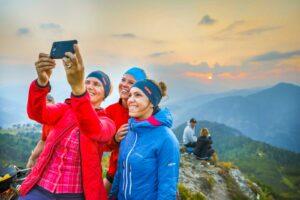 Urlaubsfoto am Grießenkareck mit Freundinnen