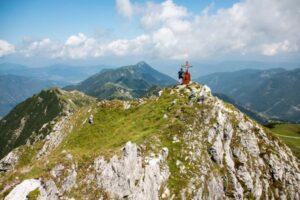 Der Schwarzkopf einer der 4-Gipfeln bei der Gipfeltour in Zauchensee