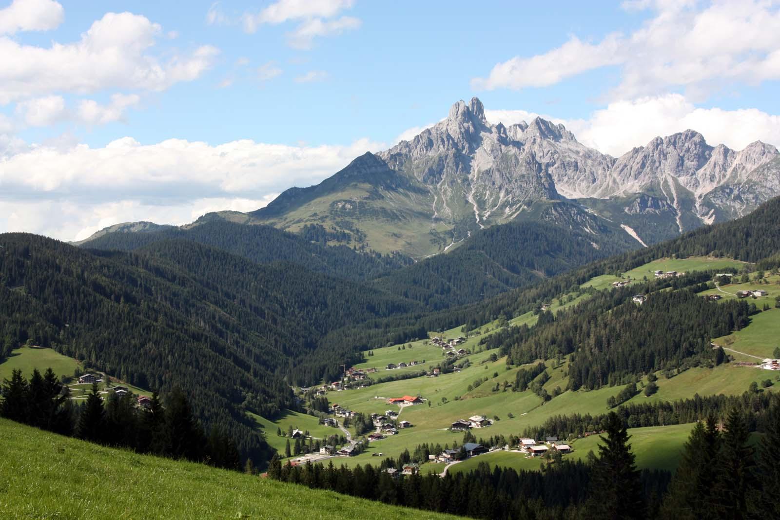 Top-Aussichtspunkt kurz vor der Moosalm bei der Wanderung in Filzmoos